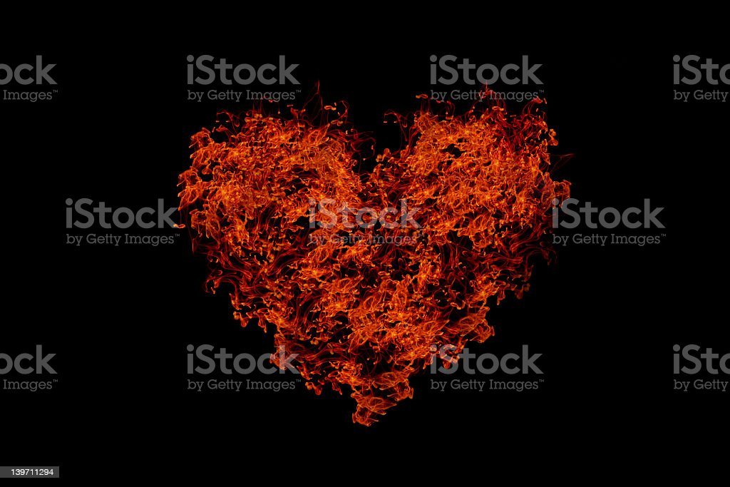 heart of fire royalty-free stock photo