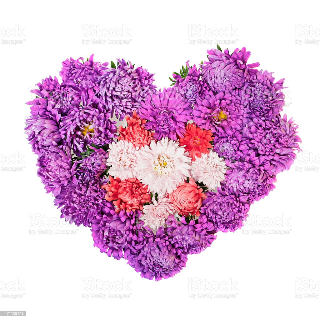 Heart of flowers royalty-free stock photo