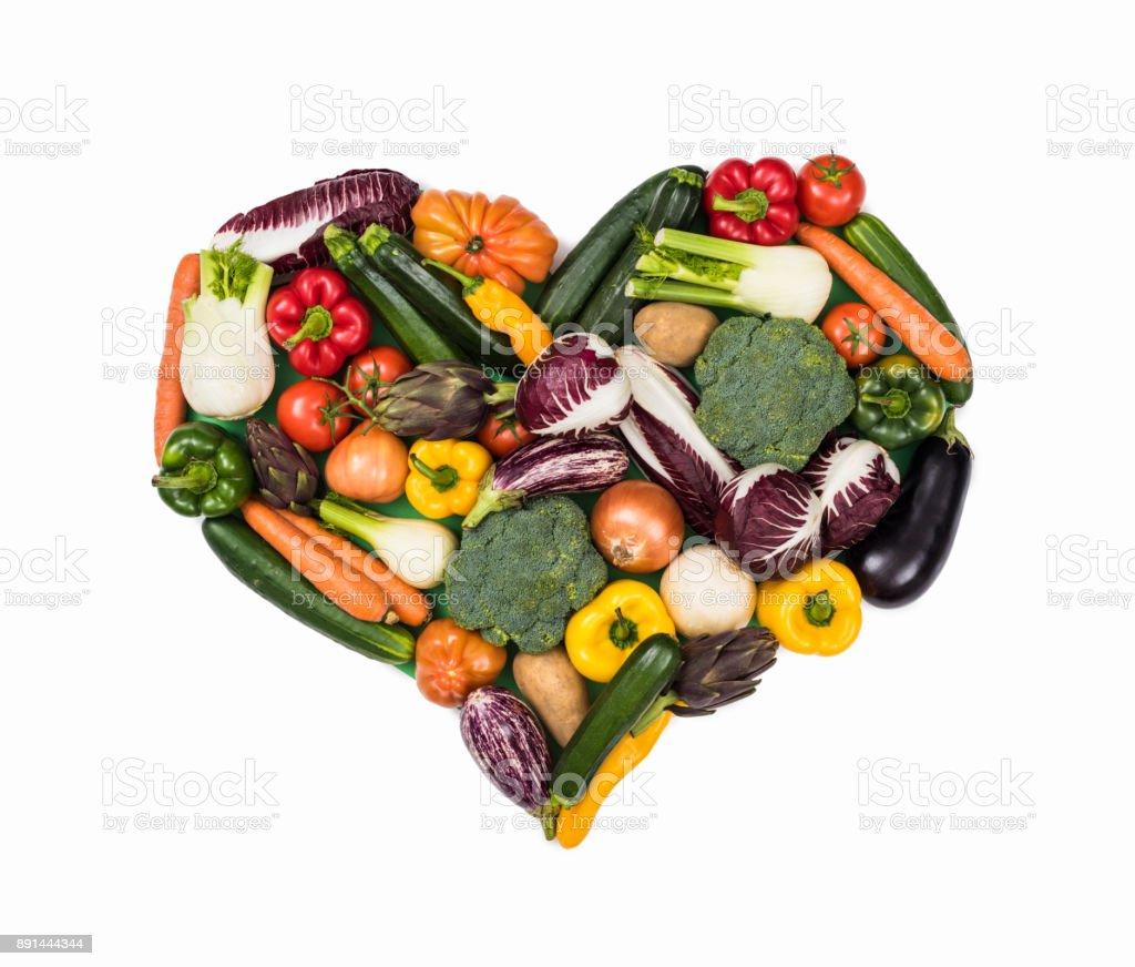 Herzen von frischem Gemüse – Foto