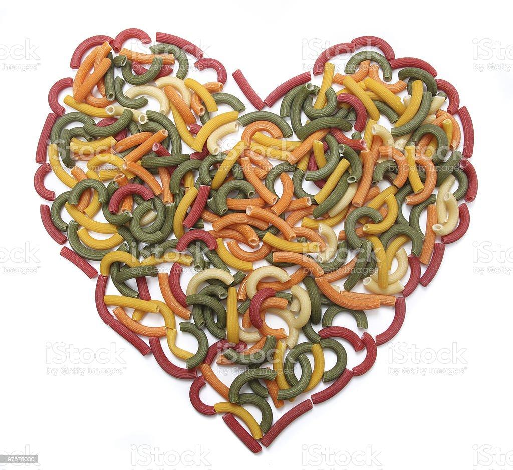 Heart of Pasta royalty-free stock photo