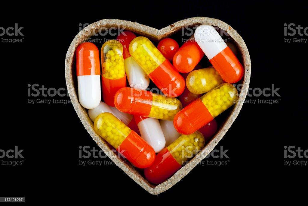 Heart of Pills royalty-free stock photo