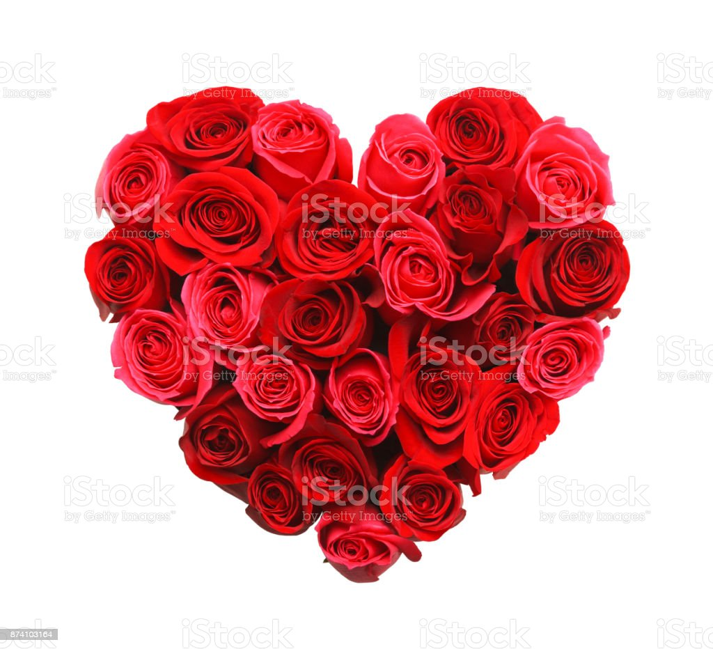 Heart of Roses royalty-free stock photo