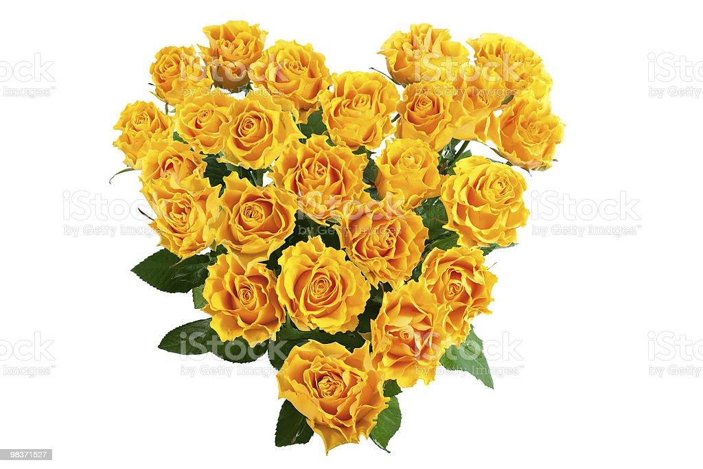heart of roses royalty-free stock photo