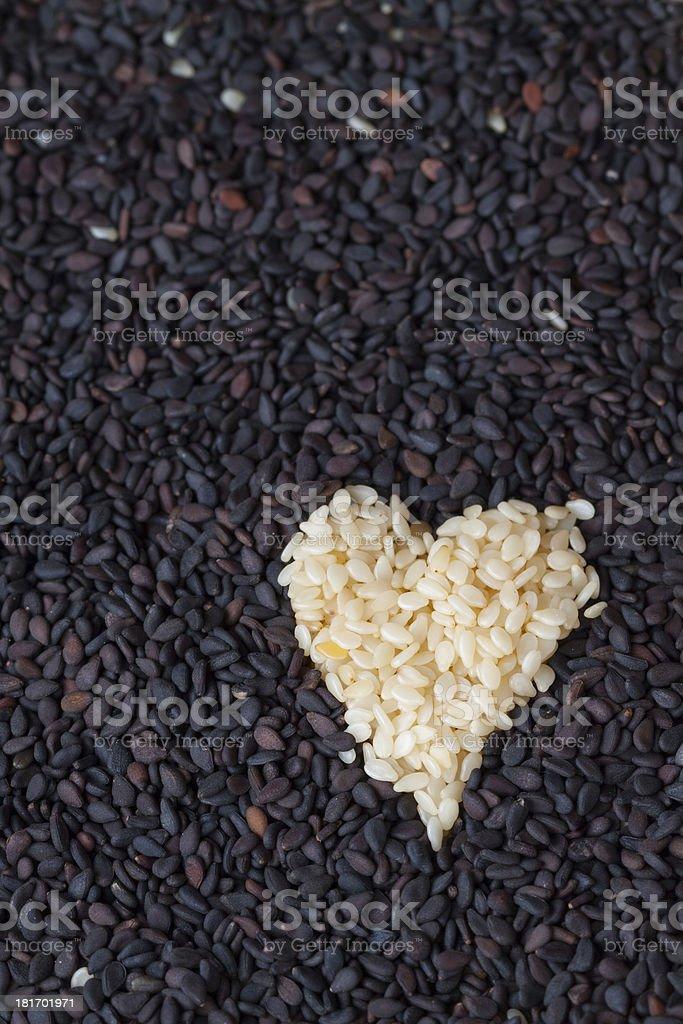 Heart of Sesame royalty-free stock photo