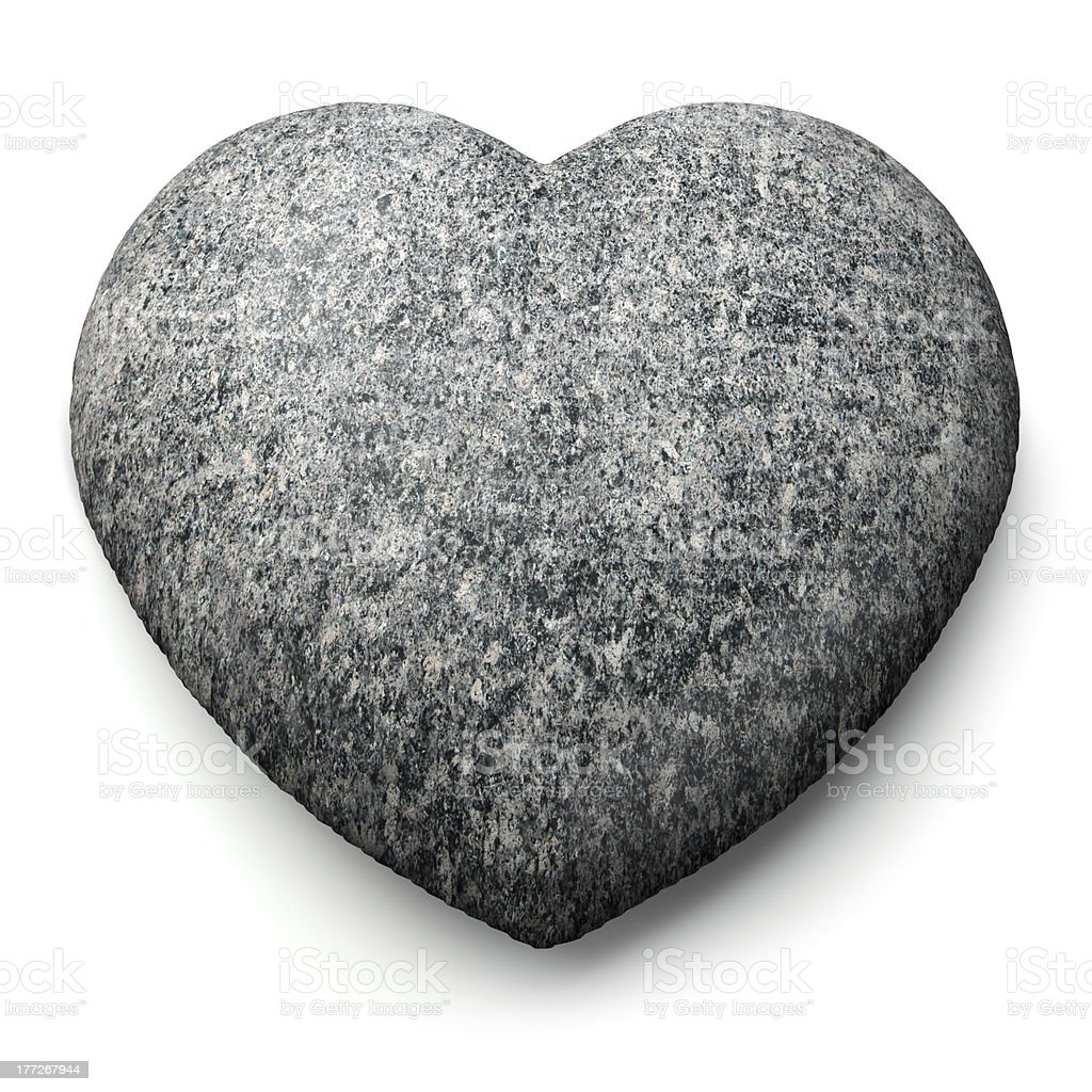 Heart of Stone stock photo