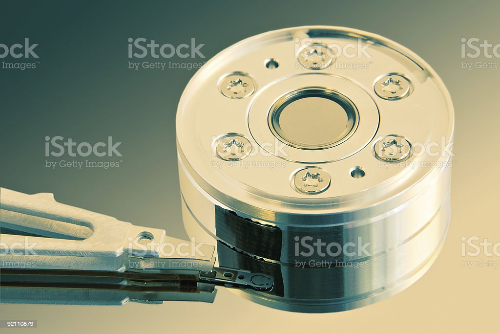 Heart of the hard disk royalty-free stock photo
