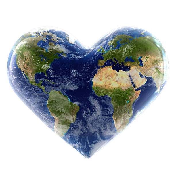heart of the world - recycling heart bildbanksfoton och bilder