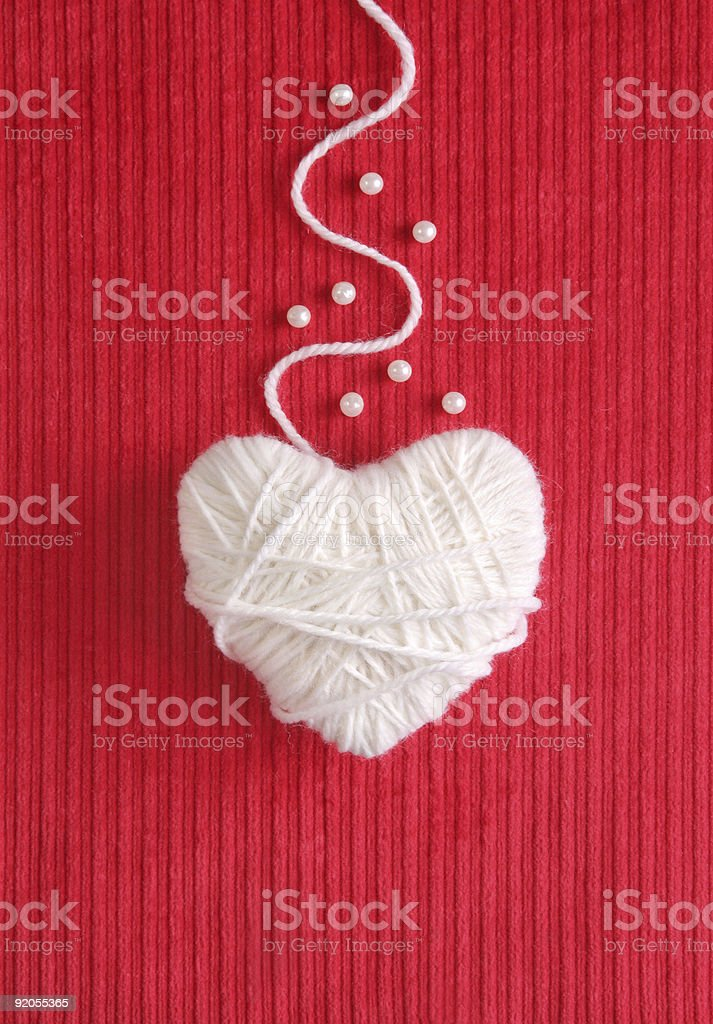 Heart of Yarn stock photo
