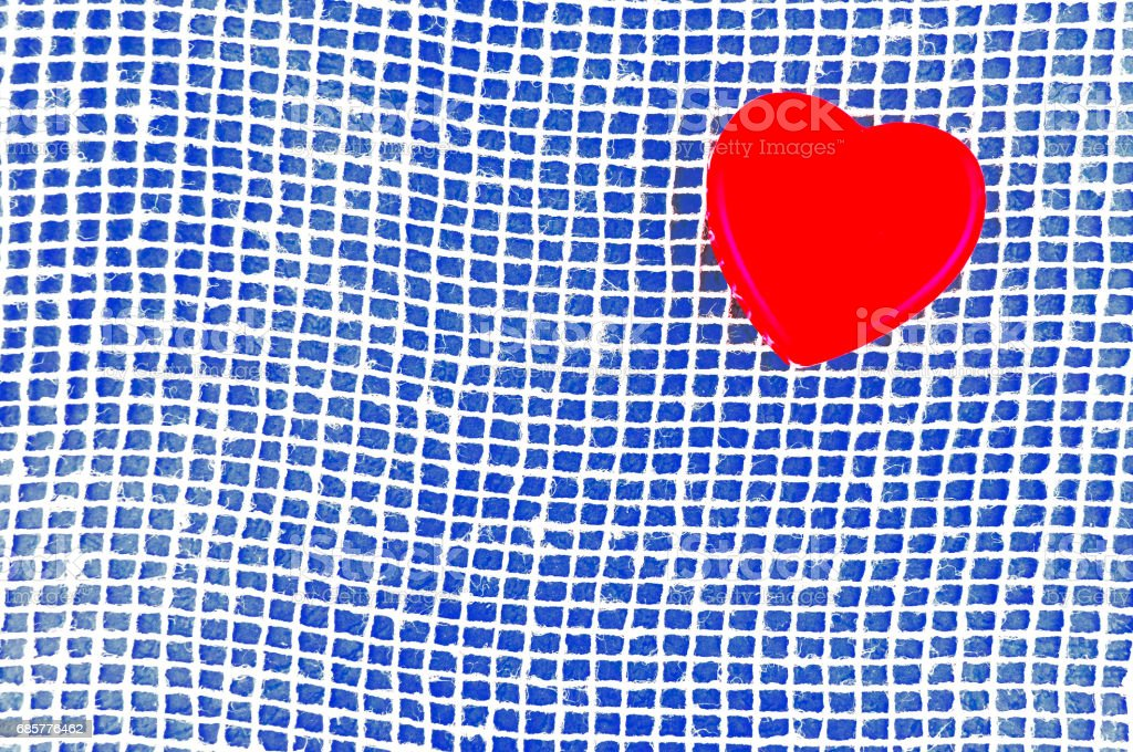 Heart on a blue background. royalty-free stock photo