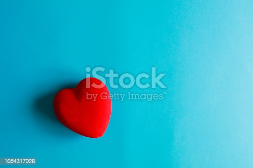Heart on a blue paper background