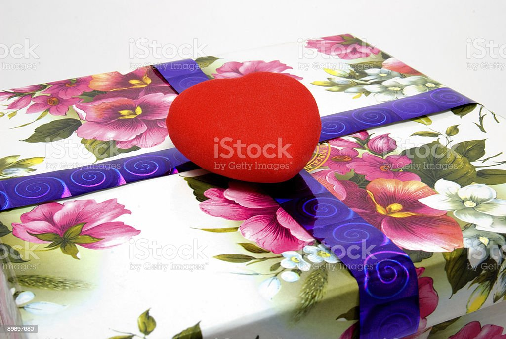 Heart on a box royalty-free stock photo