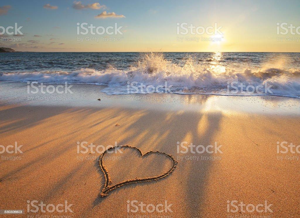 Herz am Strand – Foto