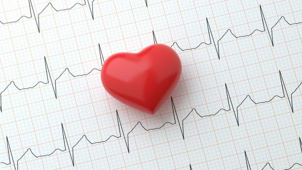 Heart on Heart Rhythm Background Concept Atrial Fibrillation Medical Condition heart rate stock pictures, royalty-free photos & images