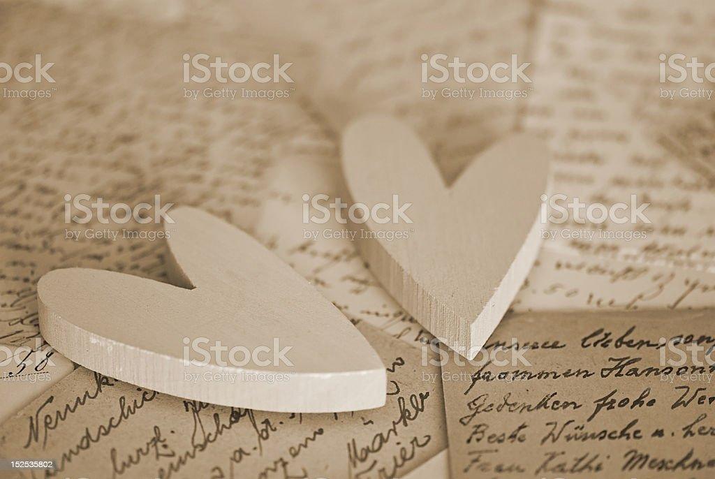 Heart on letter stock photo