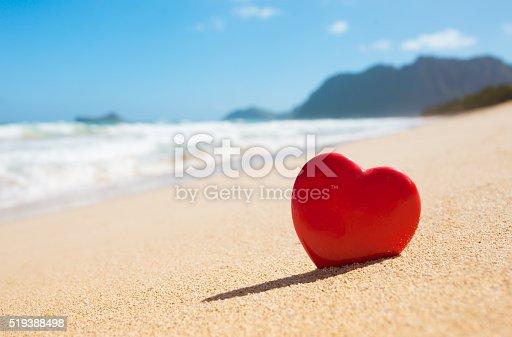 istock Heart on the beach 519388498