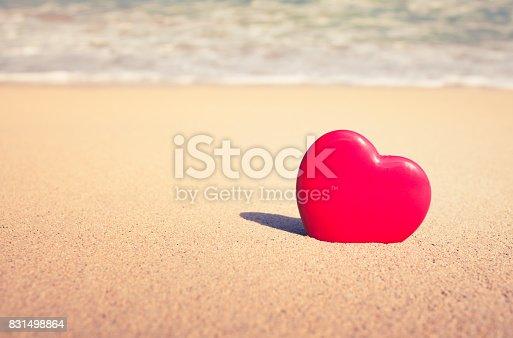 istock Heart on the beach 831498864