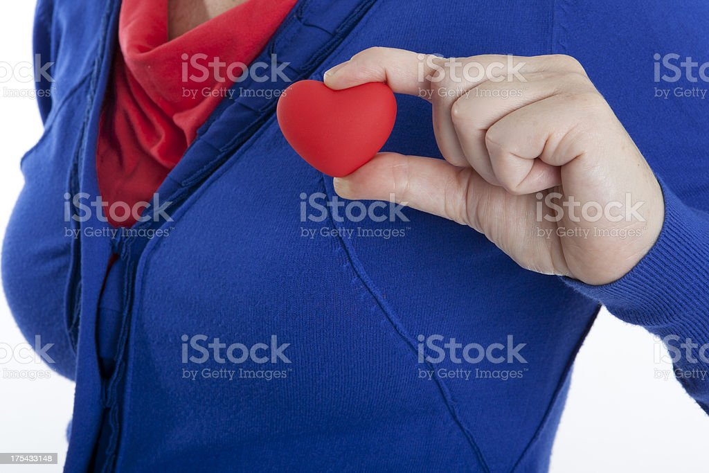 heart on the right place stock photo