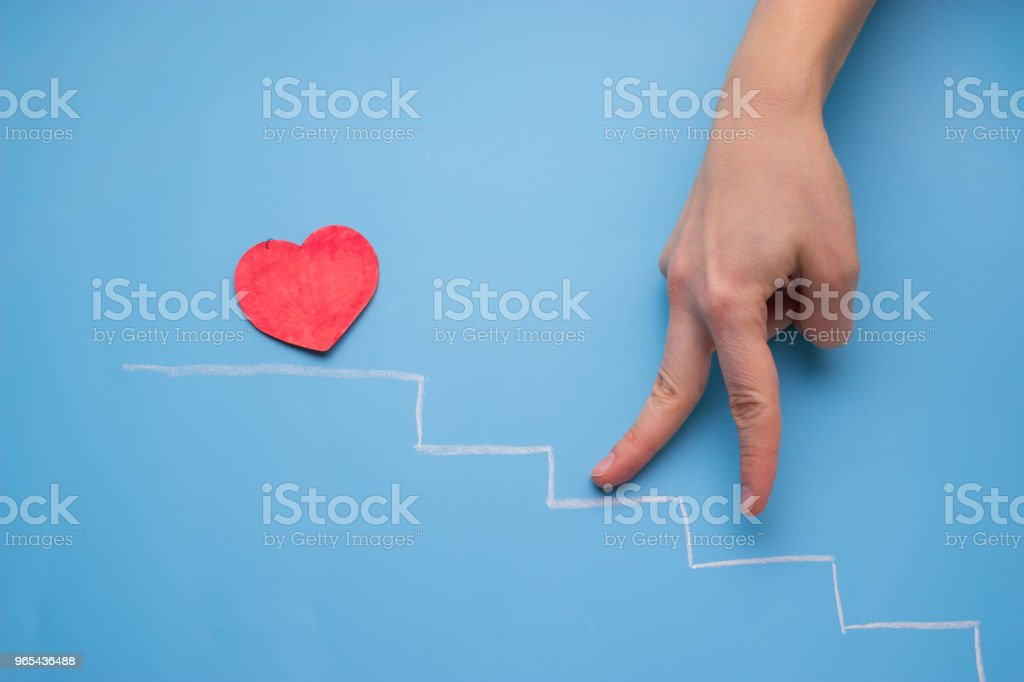 heart on the stairs royalty-free stock photo