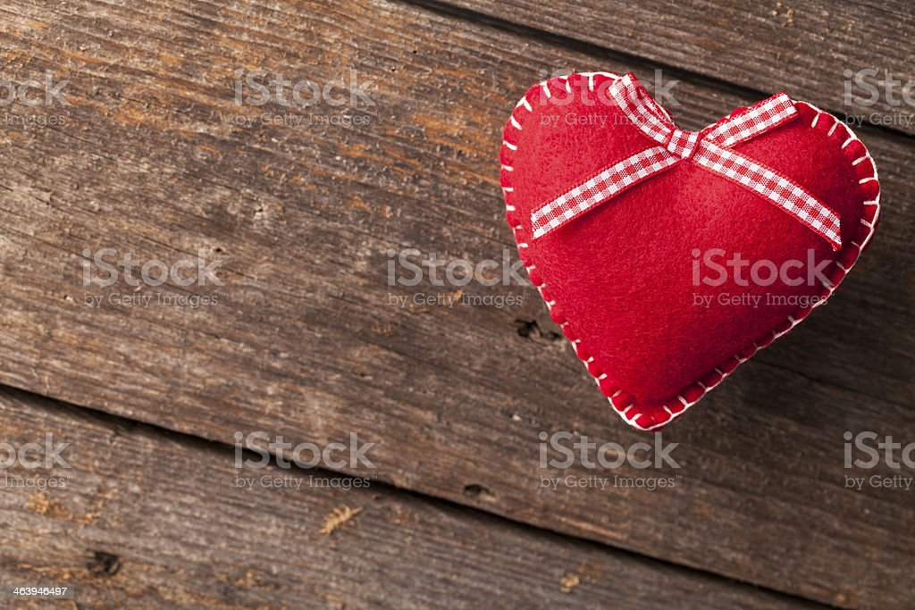 Heart on Wood royalty-free stock photo