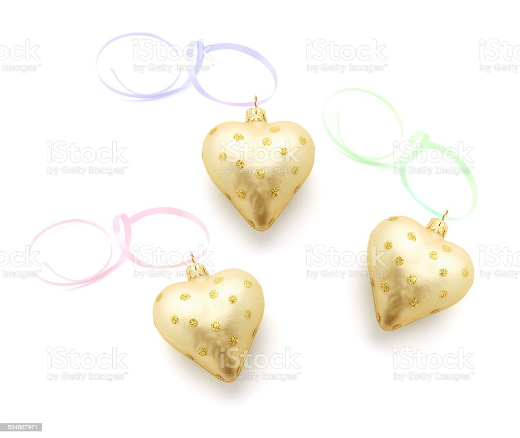 Heart Ornaments stock photo