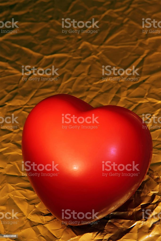 Heart Over Gold royalty-free stock photo