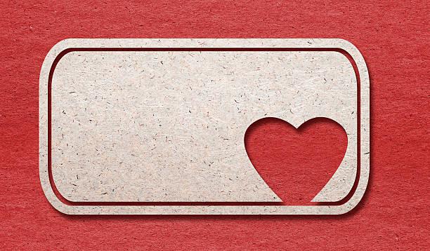 heart paper cutting design card. stock photo