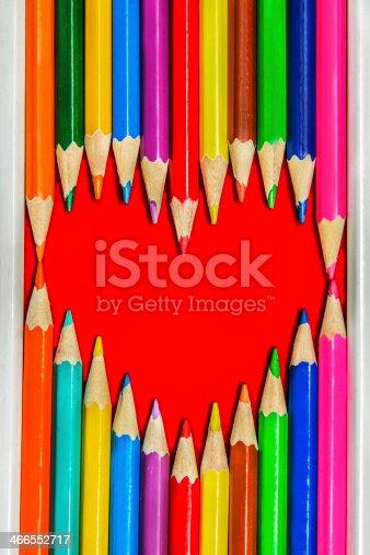 908708148 istock photo Heart Pencils Shape 466552717