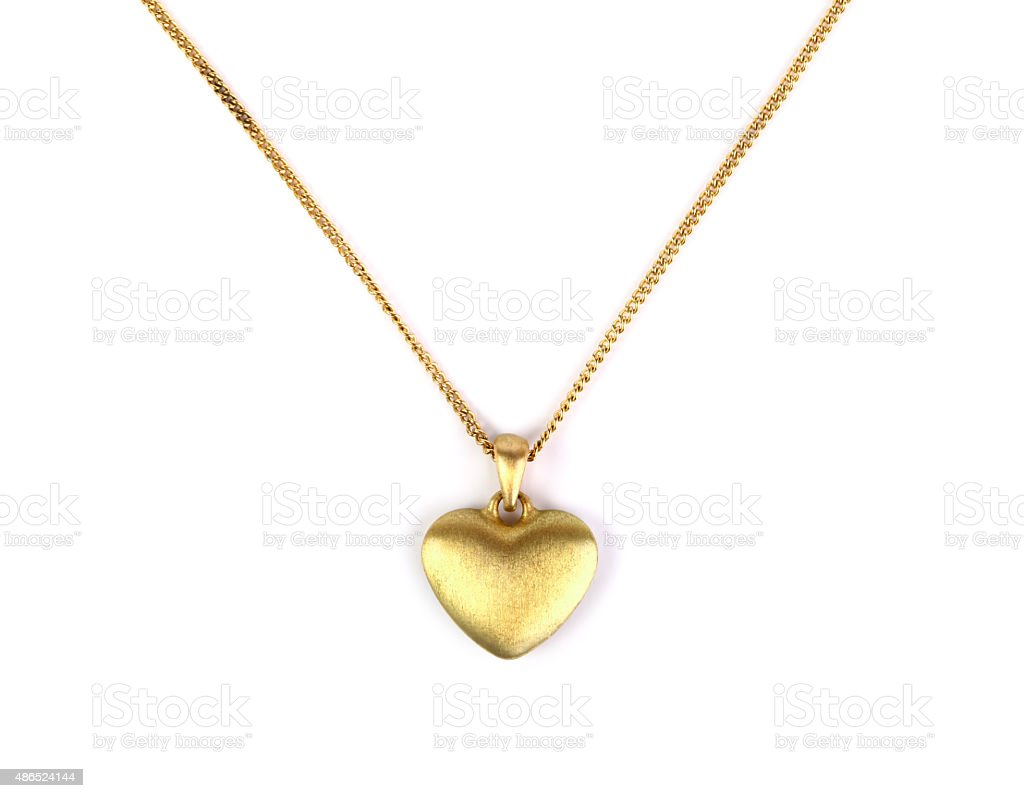 Heart pendant stock photo