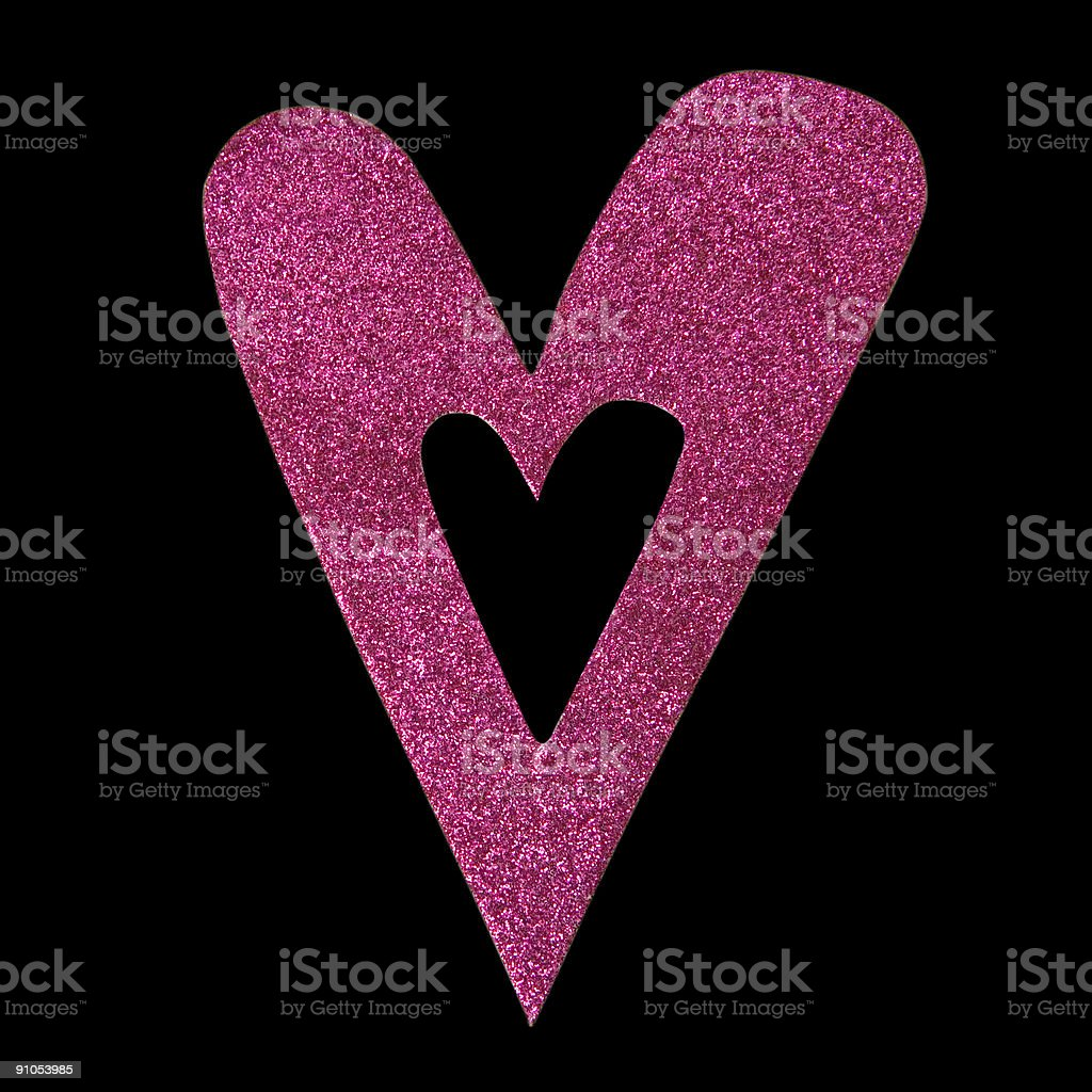 Heart (w/ Cipping Path) stock photo