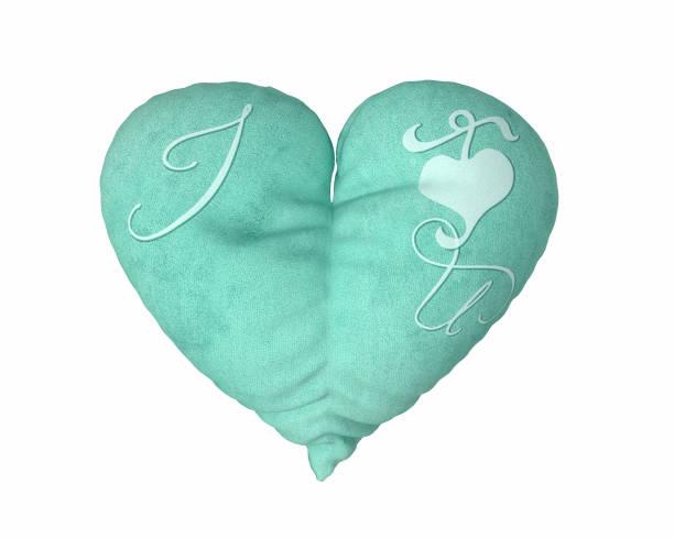 herz kissen mit ich liebe u-text - sofa u form stock-fotos und bilder