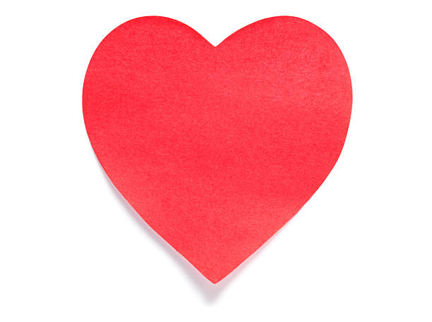 Heart Post-it Note stock photo