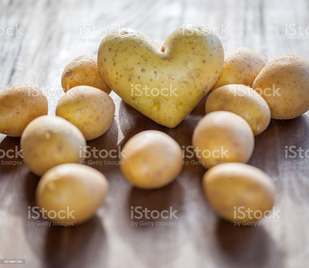 Heart Potato stock photo