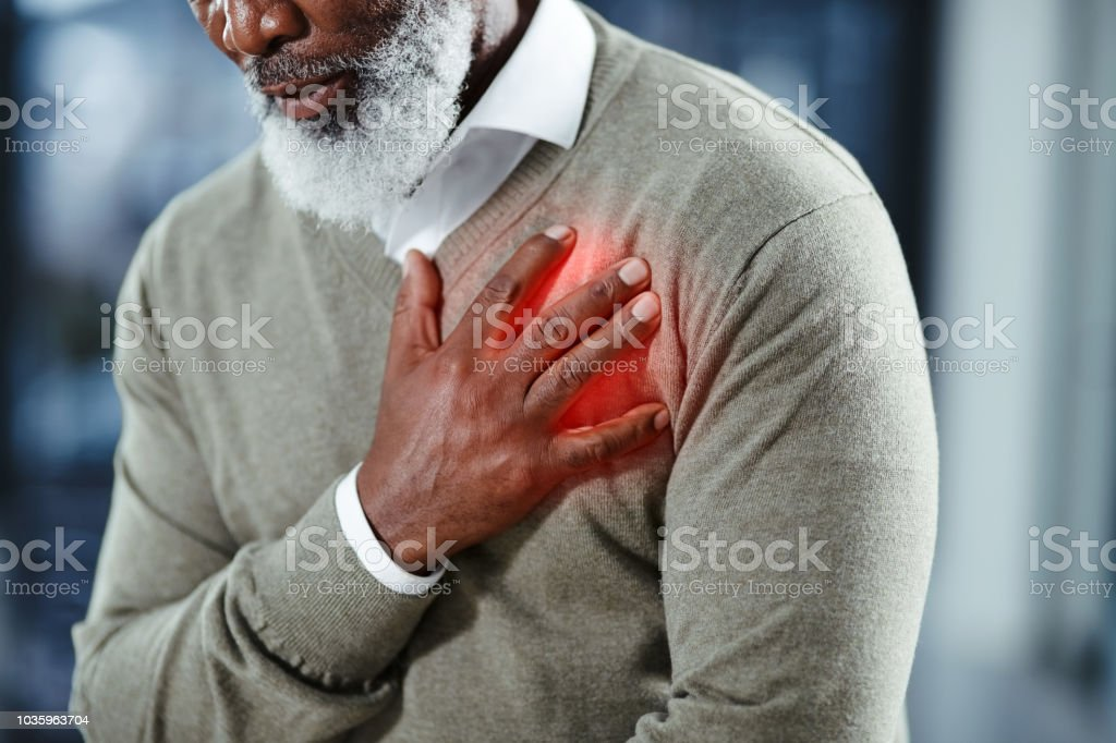 Heart problems can affect anyone at any time stock photo