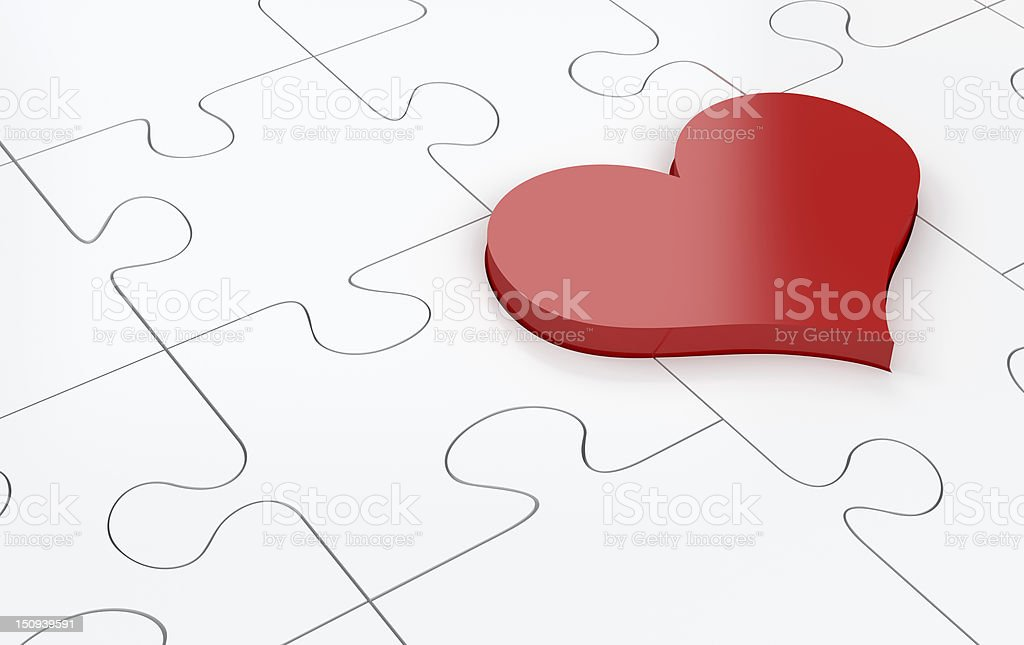 Heart Puzzle royalty-free stock photo