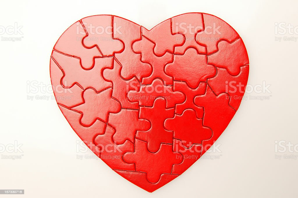 heart puzzle royalty-free stock photo