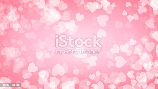 Heart red background illustration , Valentine's Day