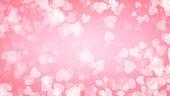 ハート赤背景イラスト、バレンタインの日