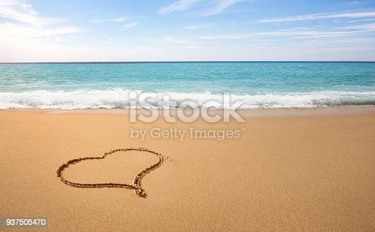 istock Heart sahpe on the beach 937505470