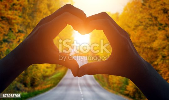 istock Heart Shape and a road 673563796
