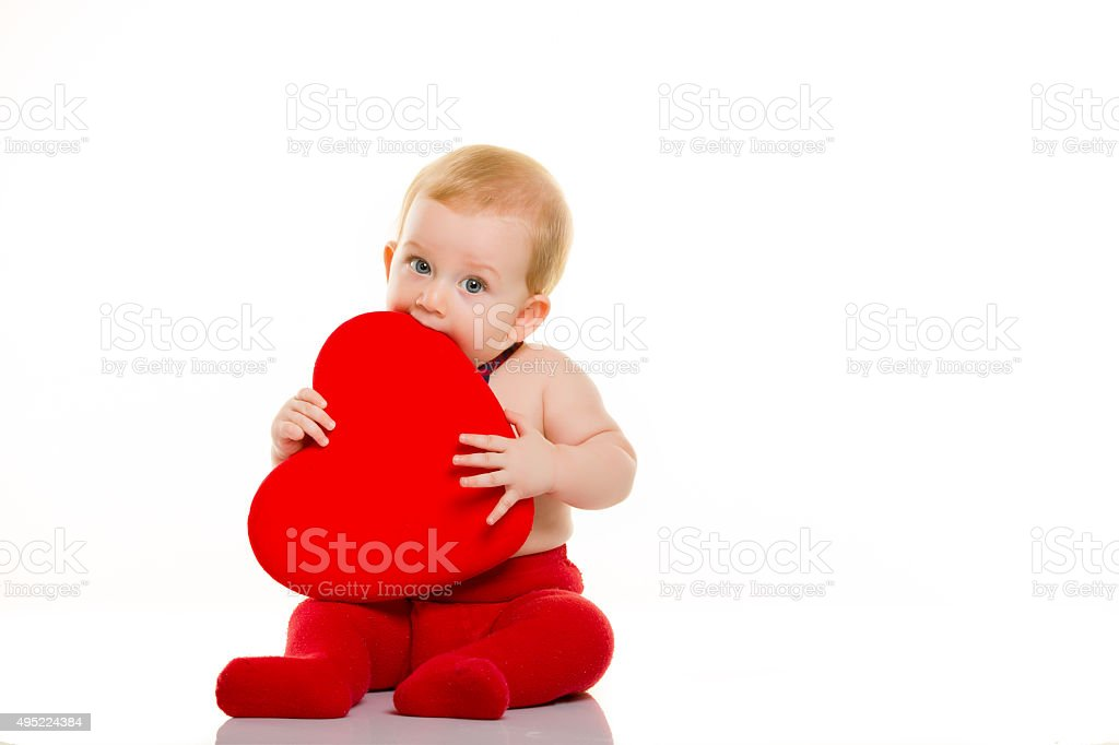 Heart Shape and Baby stock photo