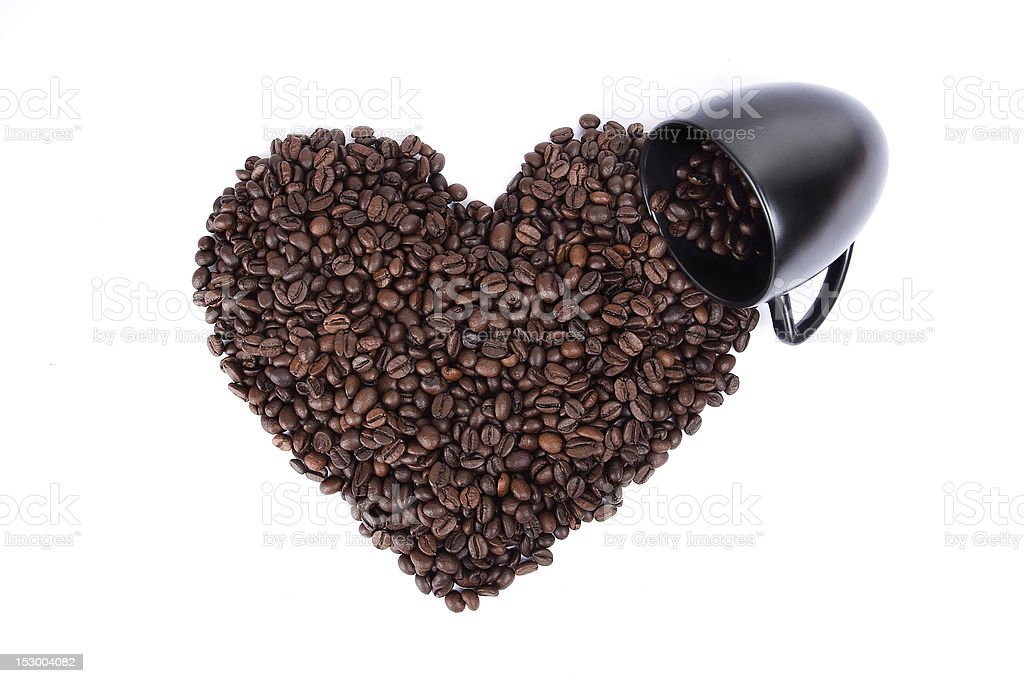 Heart shape and cup royalty-free stock photo
