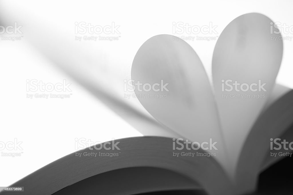 Heart Shape Book Page royalty-free stock photo