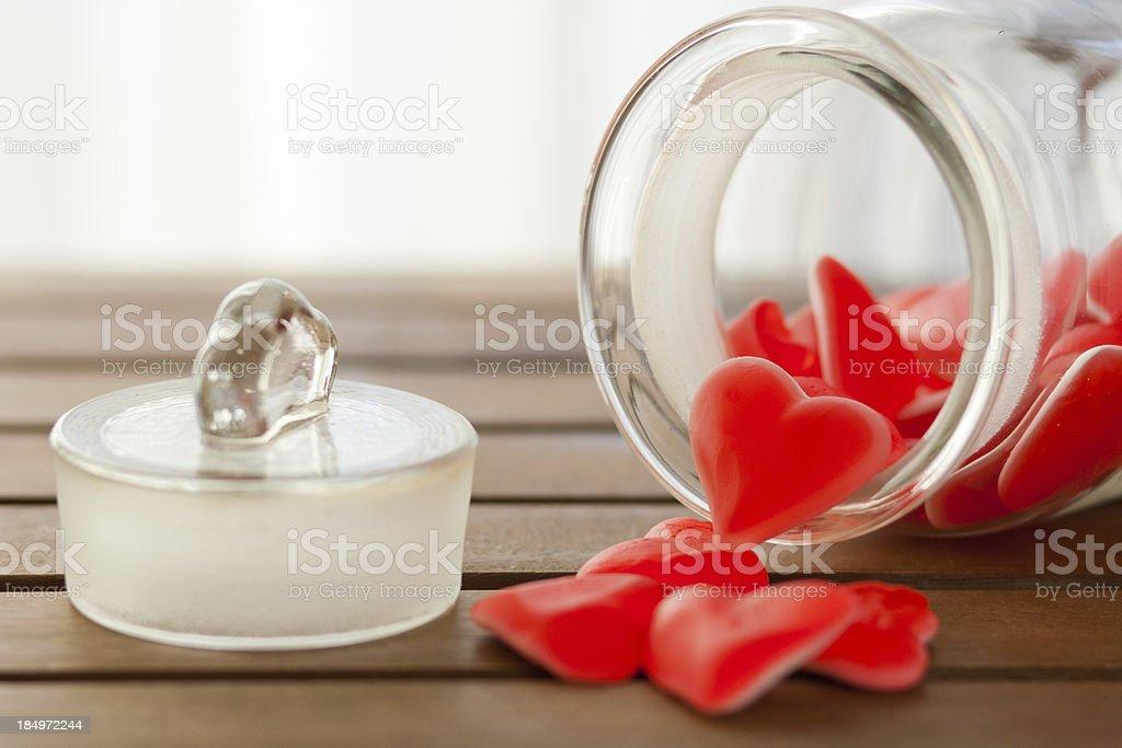 Heart shape candies stock photo