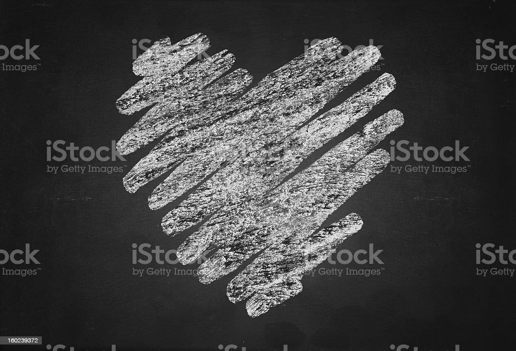 Heart shape chalk drawing royalty-free stock photo