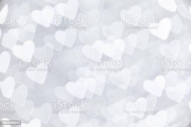 Kształt Serca Światło Świąteczne - zdjęcia stockowe i więcej obrazów Biały