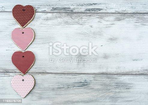 Heart shape cookies background