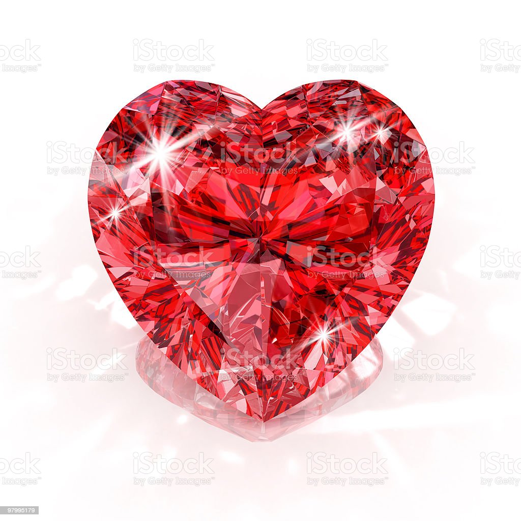heart shape diamond royalty-free stock photo