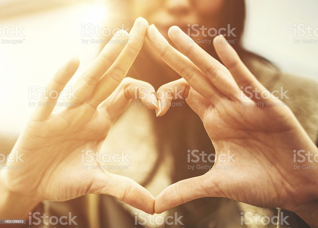 Heart shape for st. valentine stock photo