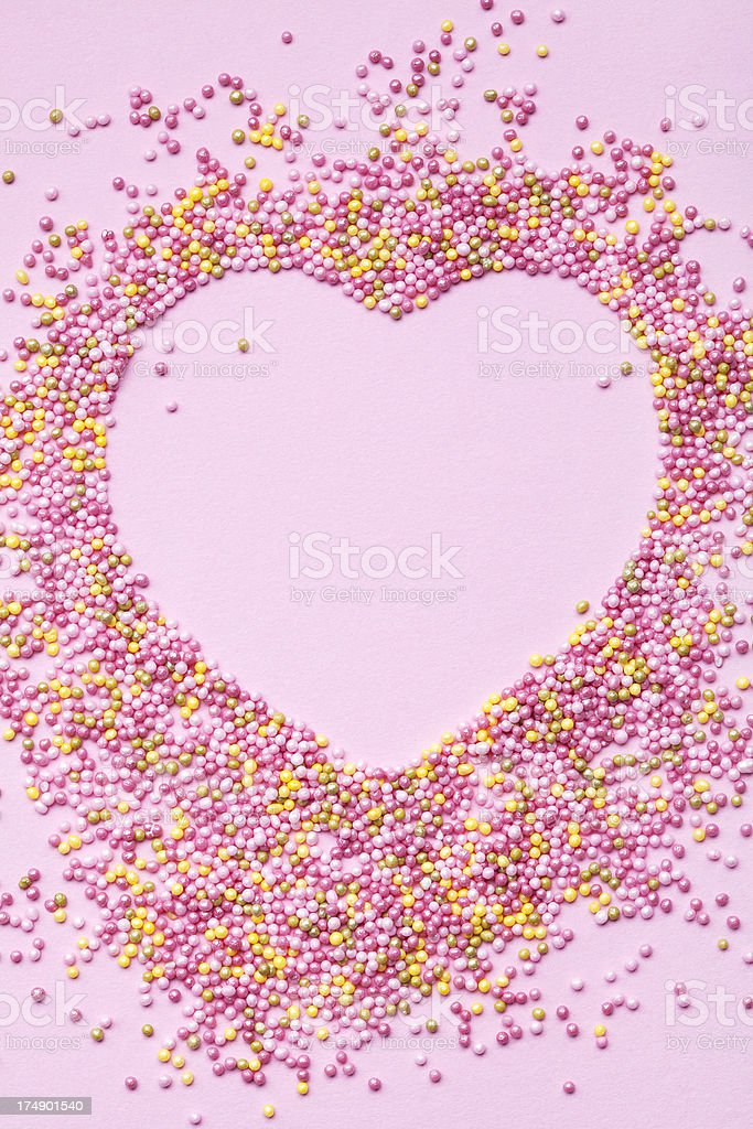 heart shape frame from candies royalty-free stock photo