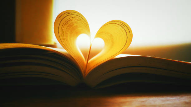 Heart shape from a book